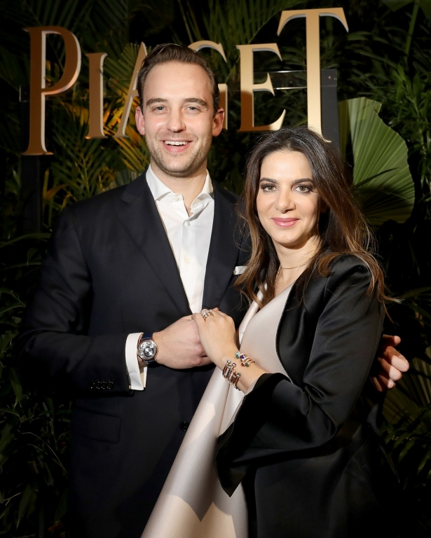 GENEVA, SWITZERLAND - JANUARY 15:  Joel Dicker (L) and Piaget CEO Chabi Nouri attend the #Piaget dinner at the Country Club during the #SIHH2018 on January 15, 2018 in Geneva, Switzerland.  (Photo by Remy Steiner/Getty Images for Piaget) *** Local Caption *** Joel Dicker; Chabi Nouri