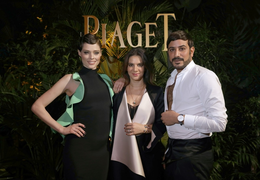 GENEVA, SWITZERLAND - JANUARY 15: (L-R) Coco Rocha, Piaget CEO Chabi Nouri and Mohammed Sultan Al Habtoor attend the #Piaget dinner at the Country Club during the #SIHH2018 on January 15, 2018 in Geneva, Switzerland.  (Photo by Remy Steiner/Getty Images for Piaget) *** Local Caption *** Mohammed Sultan Al Habtoor; Chabi Nouri; Coco Rocha