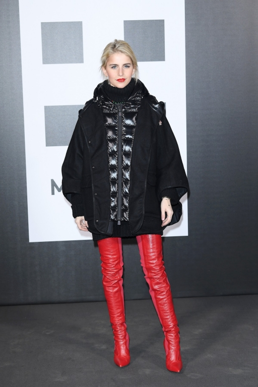 MILAN, ITALY - FEBRUARY 20: Caro Daur attends Moncler Genius during Milan Fashion Week on February 20, 2018 in Milan, Italy.  (Photo by Venturelli/Getty Images for Moncler)