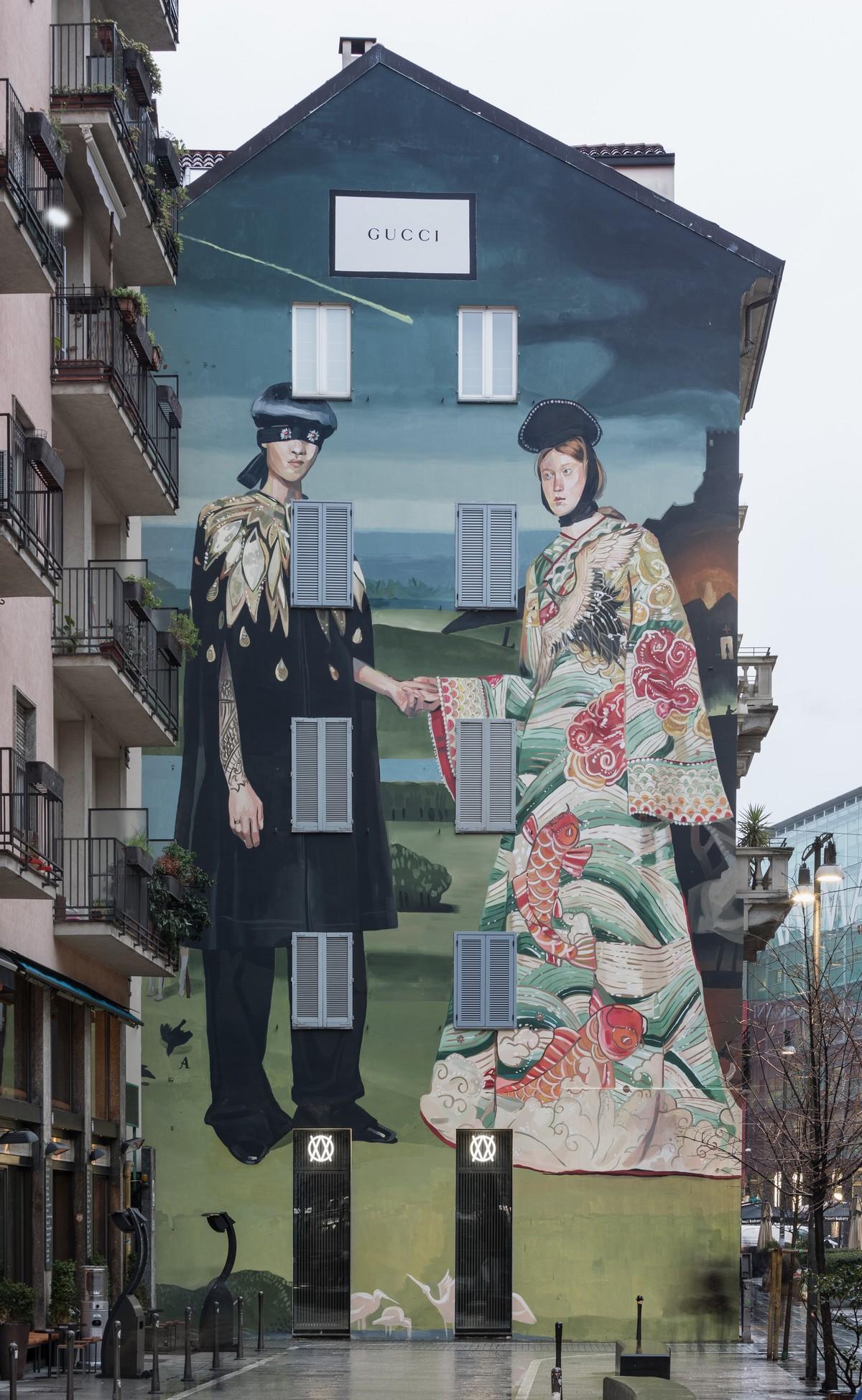Gucci presenta a Milano un nuovo Art Wall in collaborazione con Ignasi Monreal