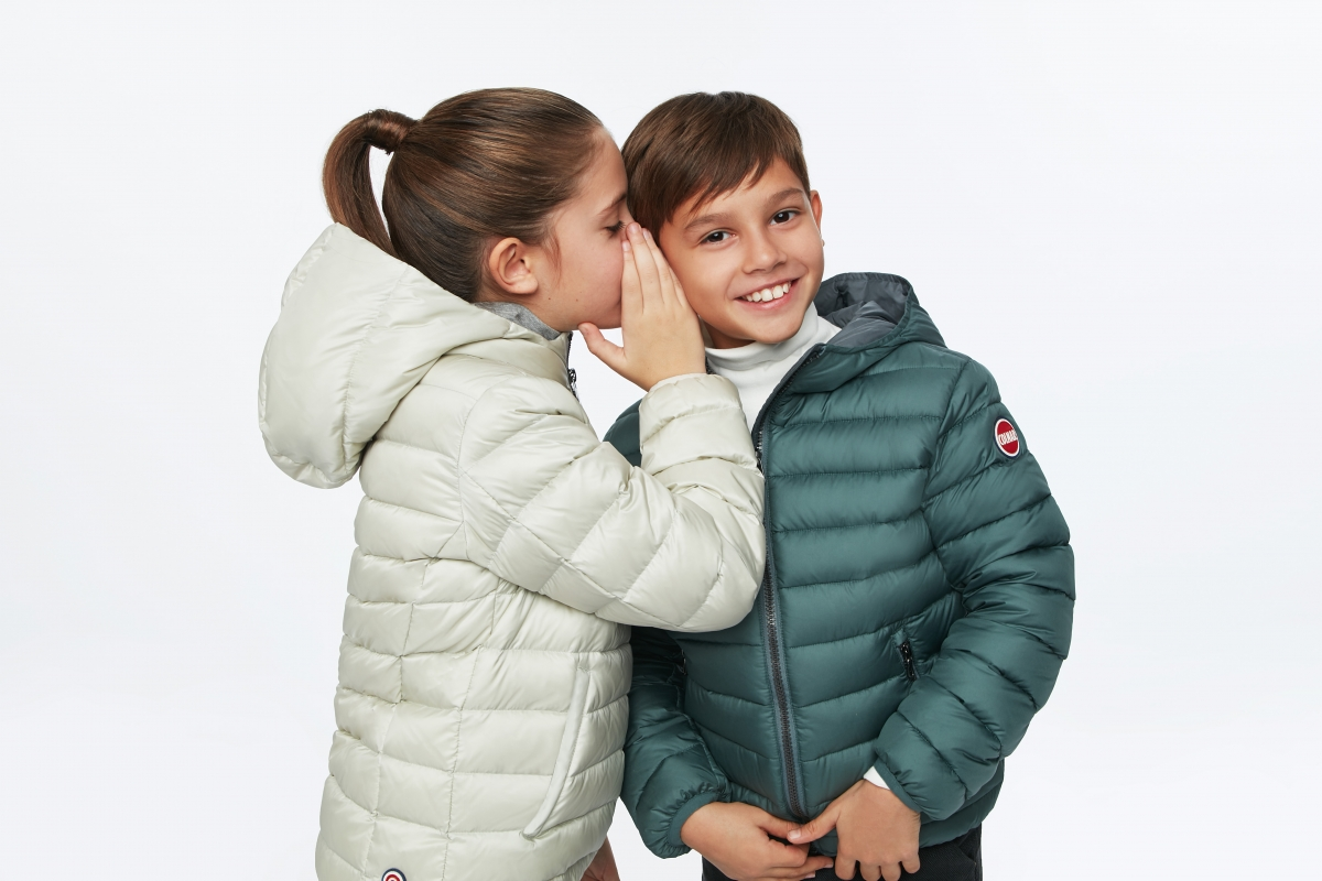 moda bambini sulla neve