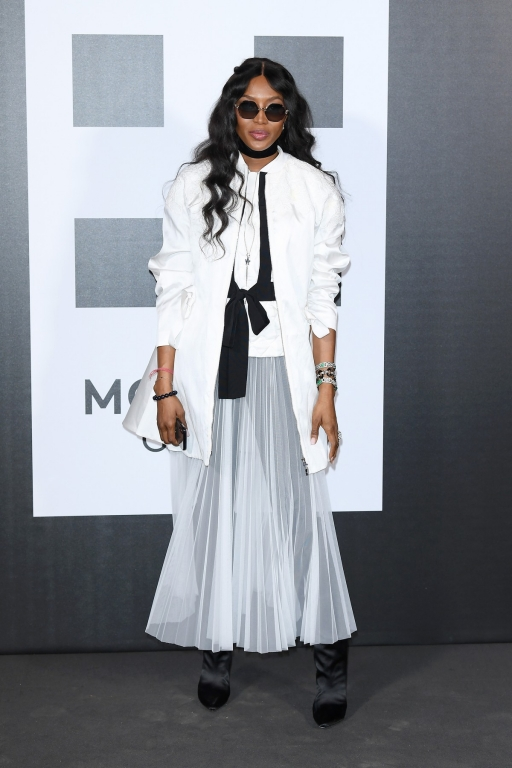 MILAN, ITALY - FEBRUARY 20:  Naomi Campbell attends Moncler Genius during Milan Fashion Week on February 20, 2018 in Milan, Italy.  (Photo by Venturelli/Getty Images for Moncler)
