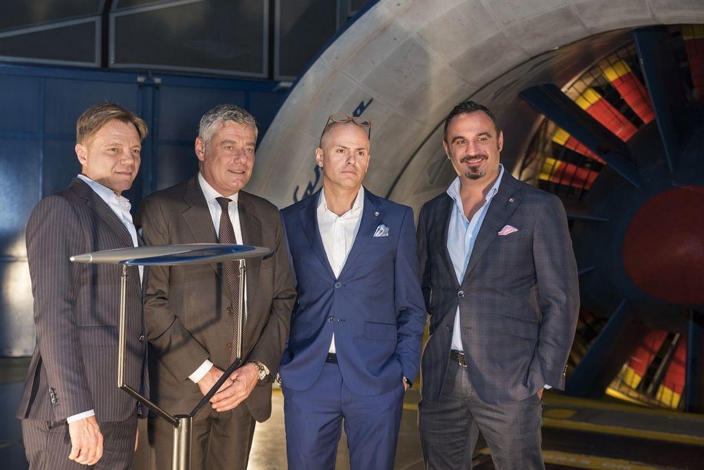 Pininfarina - Andrea Bettancini, Paolo Pininfarina, Davide Fabi e Mario Tarroni