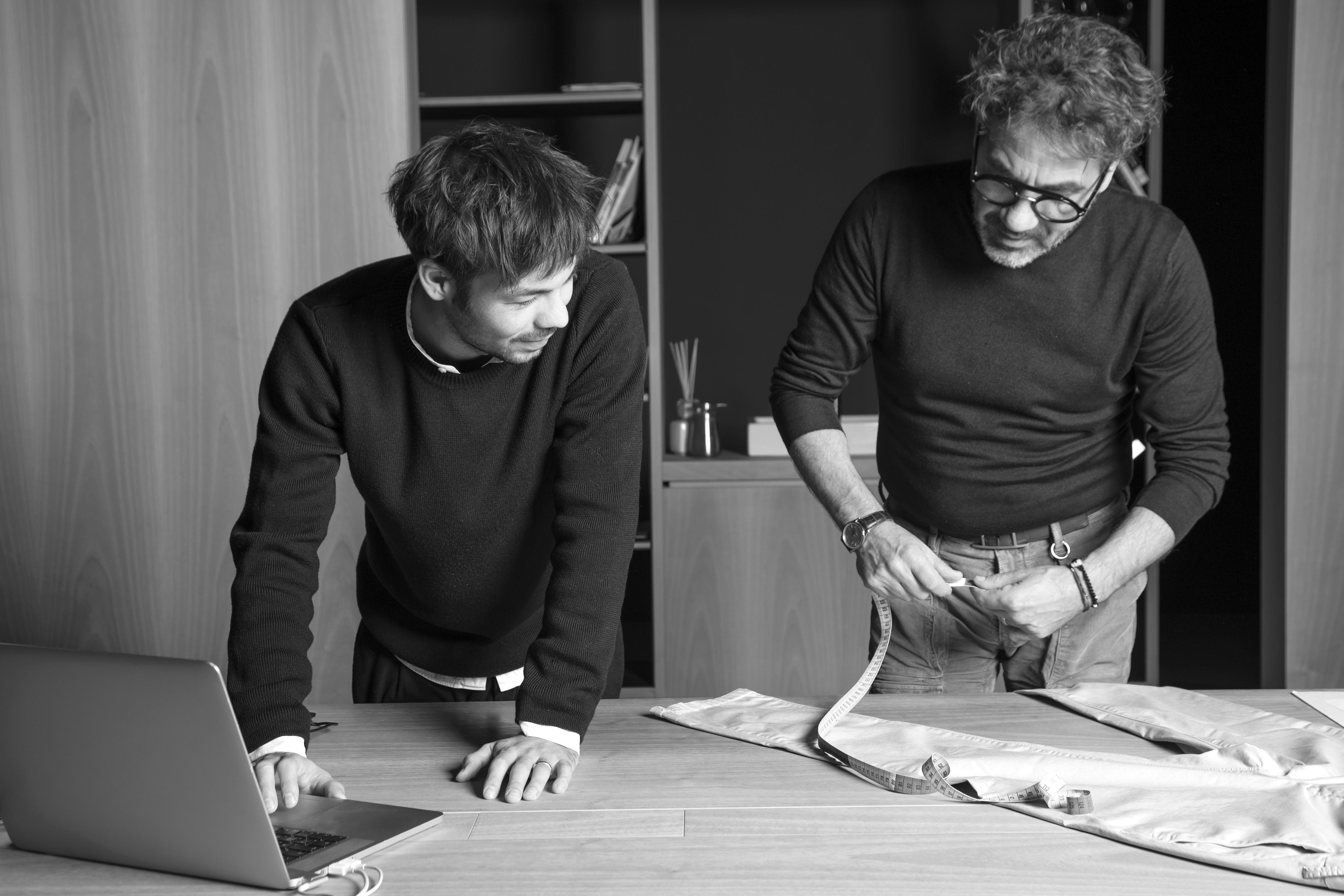 Cesare Bianchetti (Owner and Art Director Brand Siviglia) e Sauro Bianchetti
