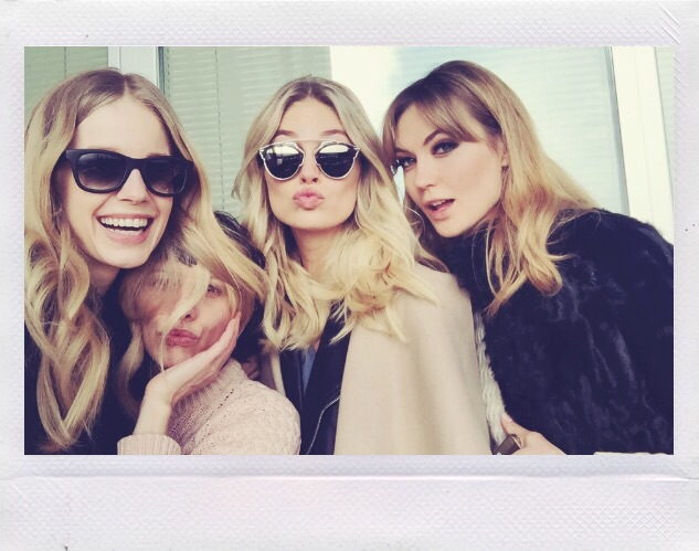 Giorgia Pambianchi. A selfie with models