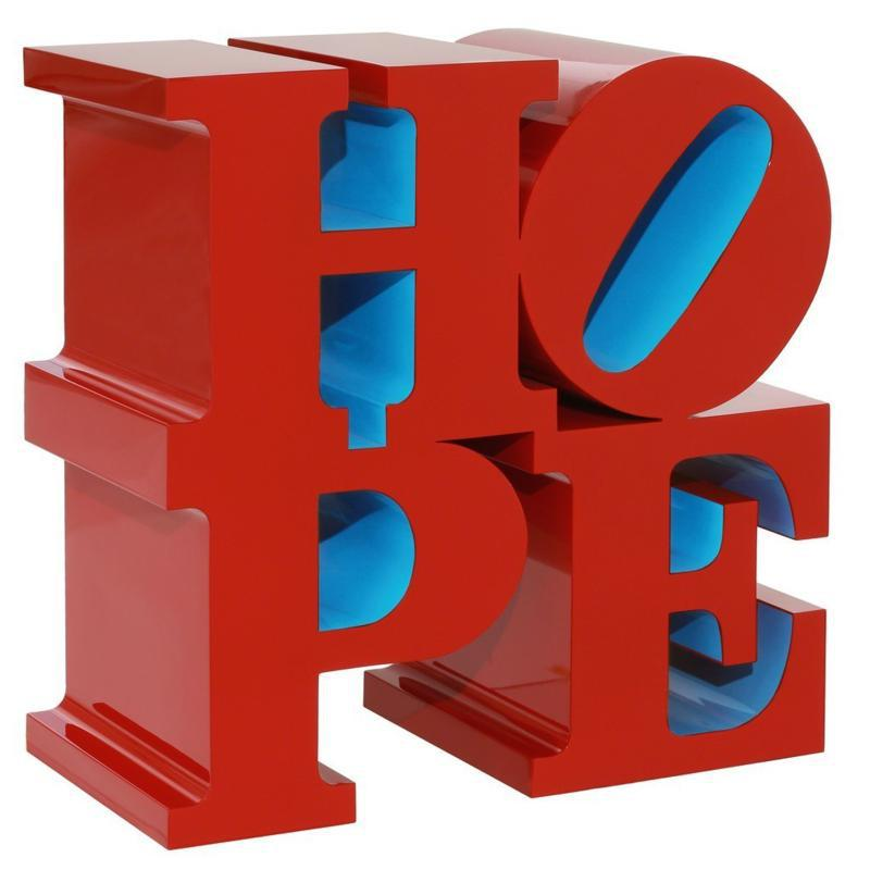 HOPE red blue - Robert Indiana - 2009