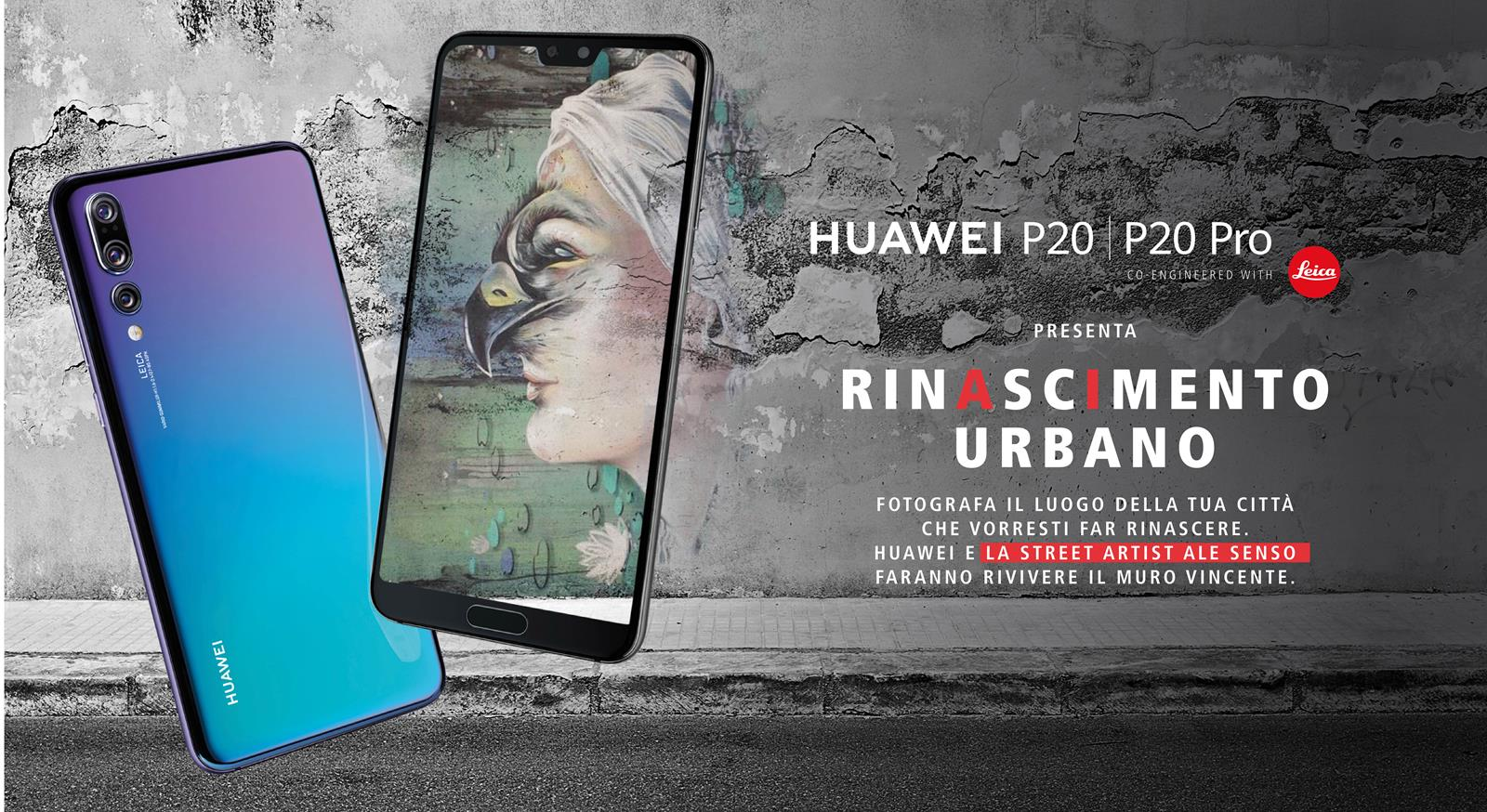 Huawei contest street art