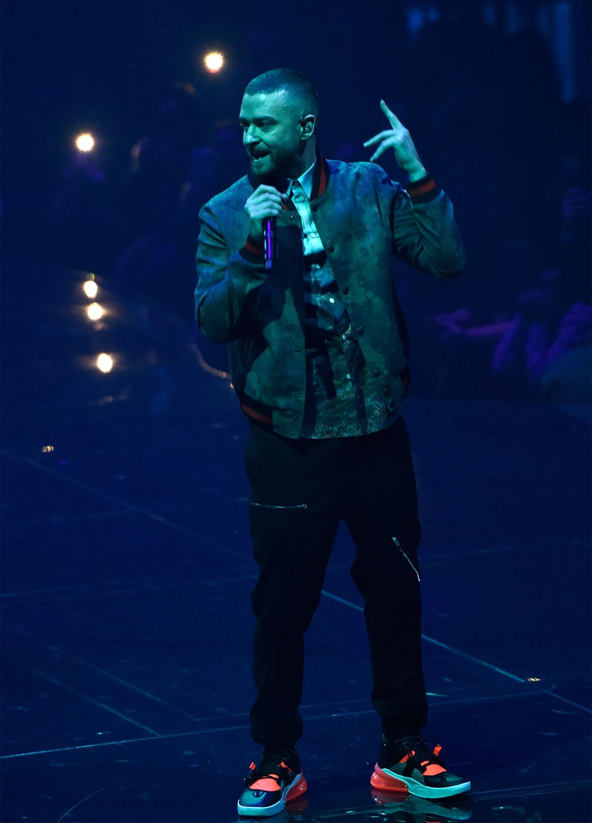 Justin Timberlake in tour Man of the Woods (Photo by Kevin Mazur/Getty Images for Live Nation)