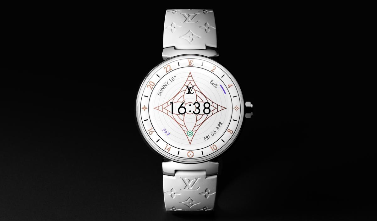 Louis Vuitton Levoluzione Del Tambour Horizon Monogram White