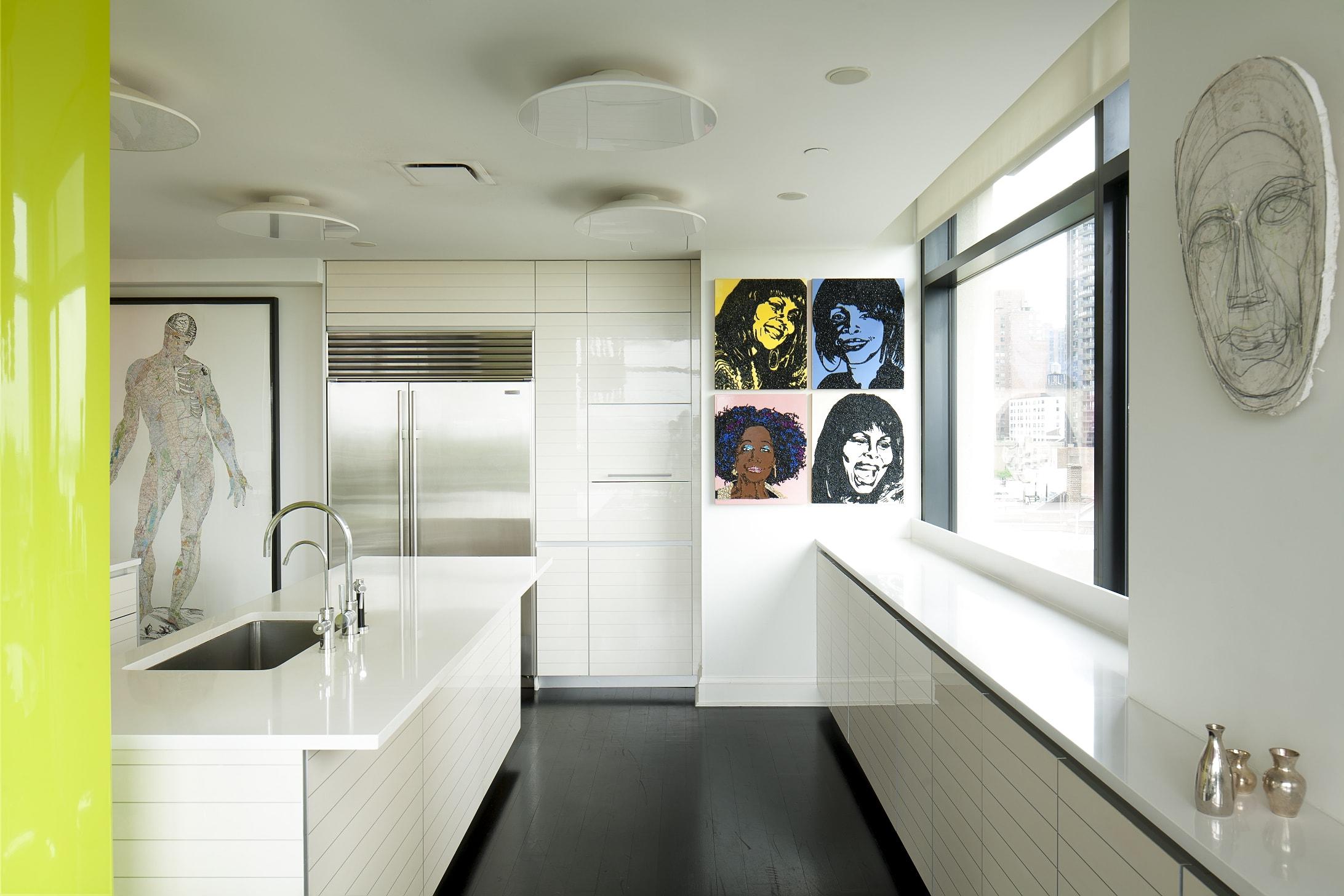 Un interno dell'abitazione della Gallerista Dominique Lévy progettata da Peter Marino. (Foto di Luca Pioltelli).