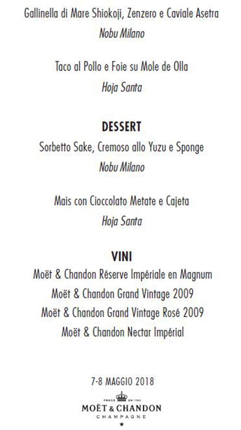 Da Nobu Armani Milano va in scena la cucina stellata messicana ...