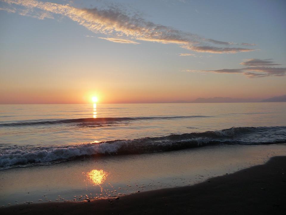 Albania tramonto