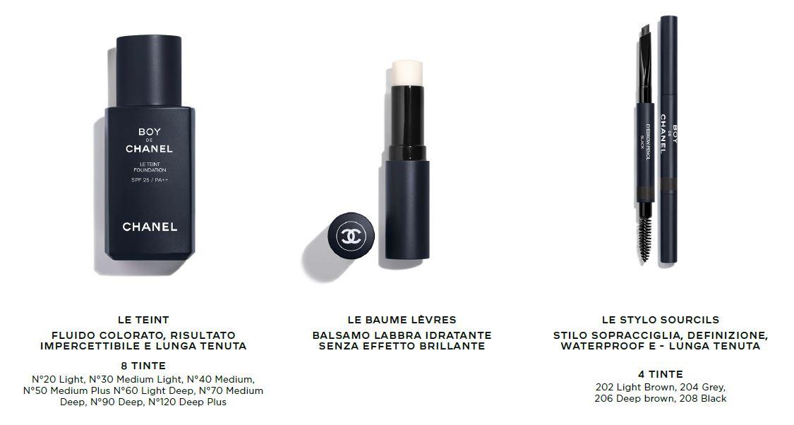 Boy de Chanel prodotti make-up uomo