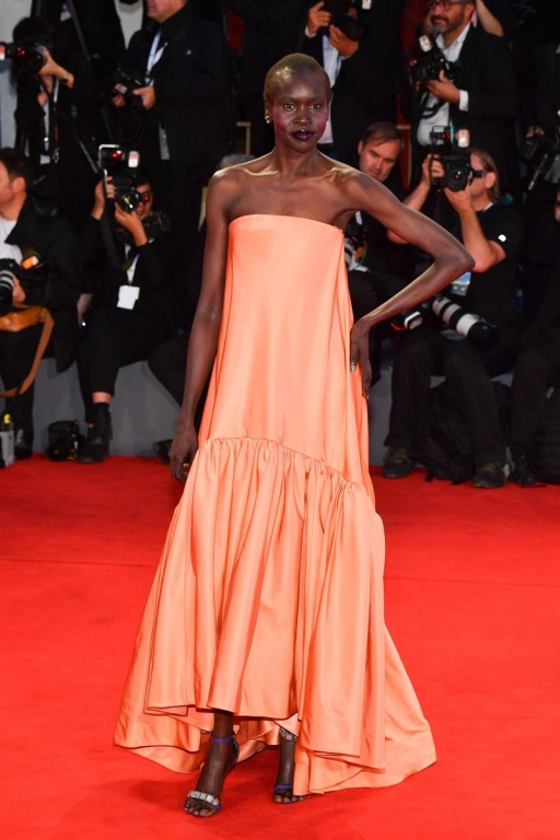 Alek Wek in Calvin Klein by Appointment