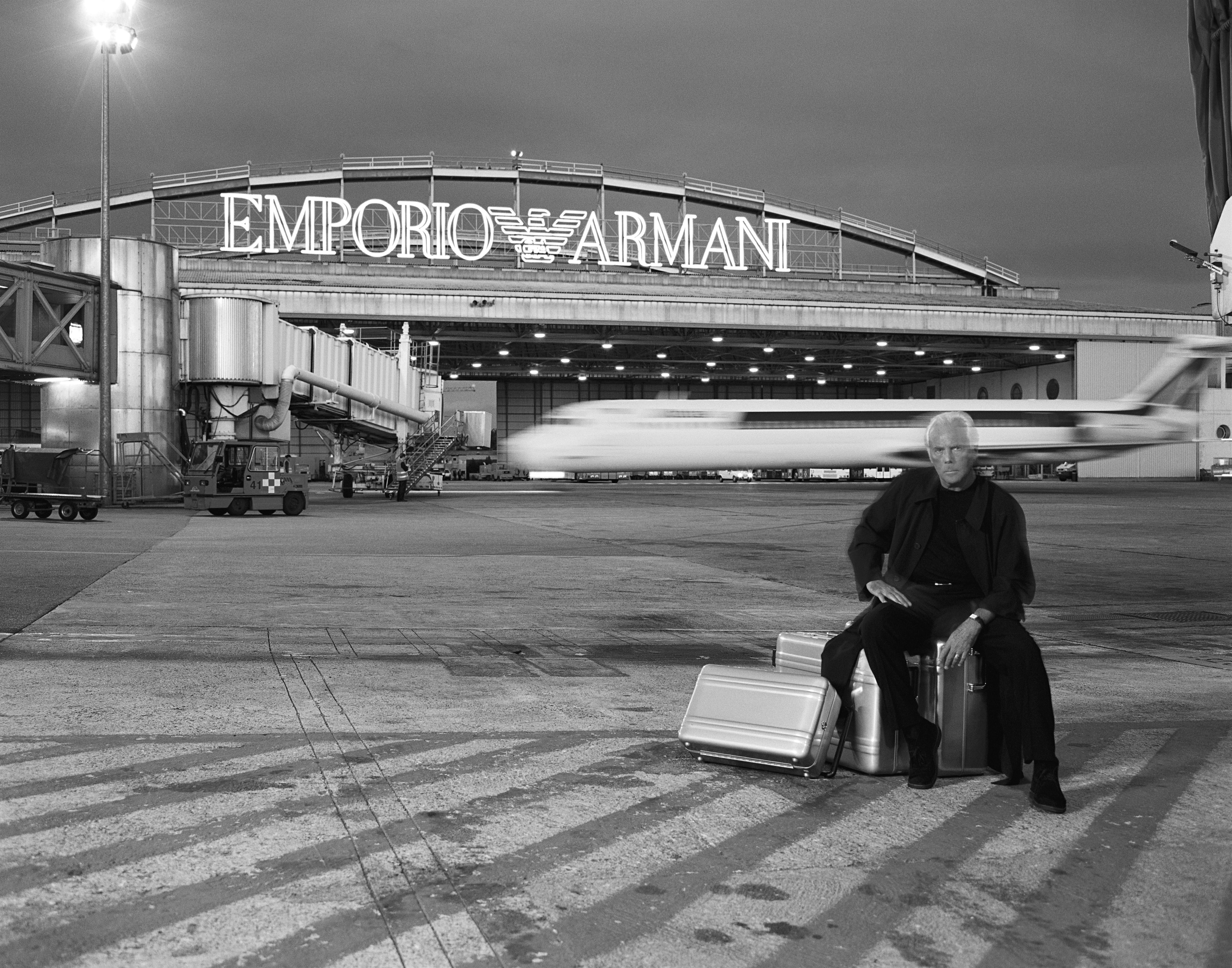 "Giorgio Armani (born in 1934), Italian stylist. Milan. Jean-Marie Périer for ""Designers's World"" in Elle Magazine (n°2681) in May, 19th, 1997."