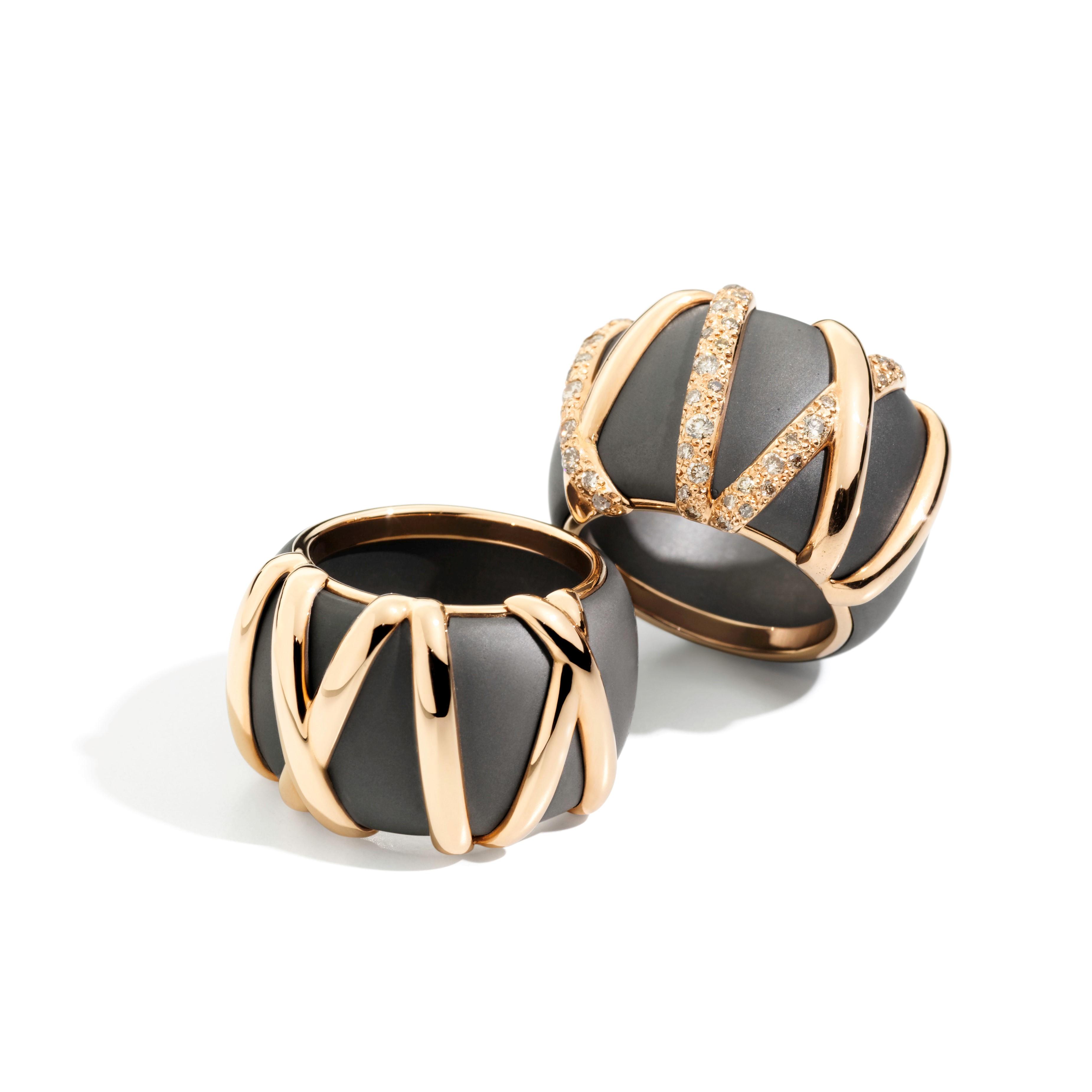 Titanio rings by Pomellato
