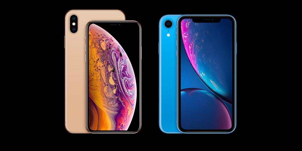 iPhone Xs Xs Max e Xr