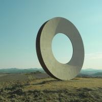 Mauro Staccioli, La Boldria, acciaio corten, 2016, Volterra