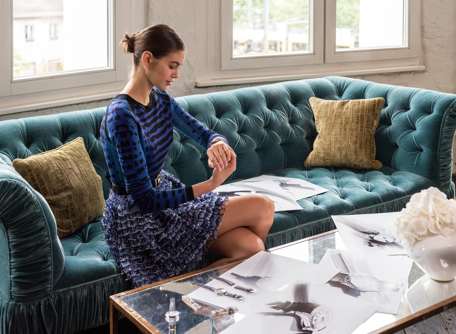 kaia gerber omega watches