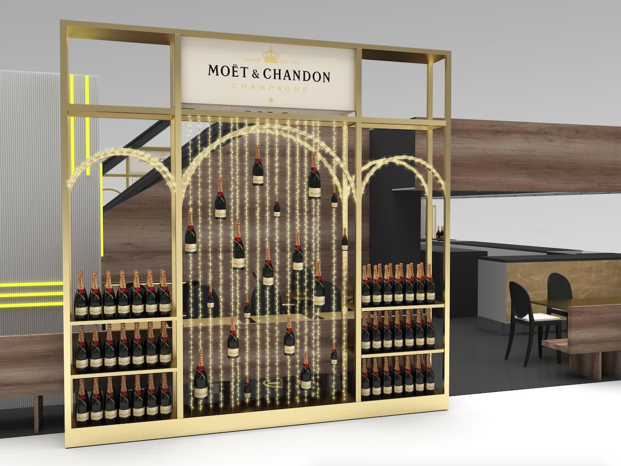 moet chandon milano rinascente champagne experience temporary lounge
