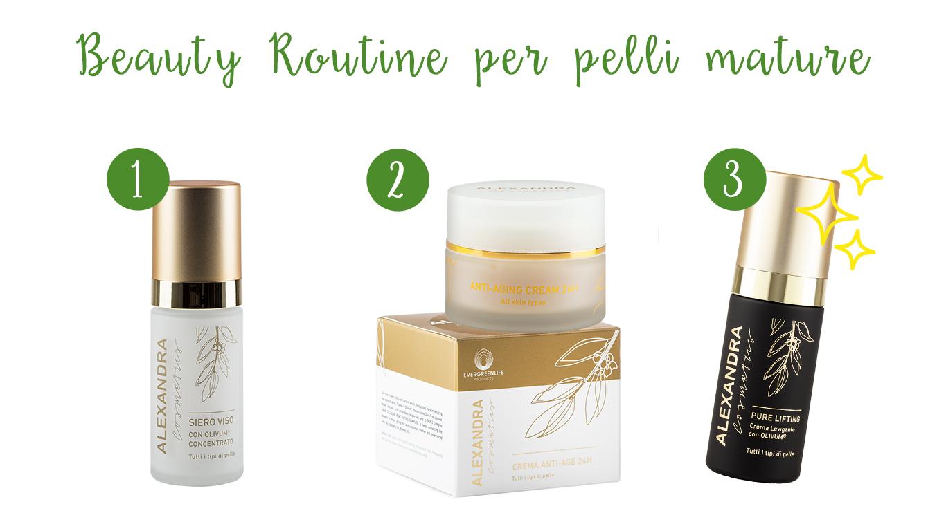 Beauty routine per pelli mature