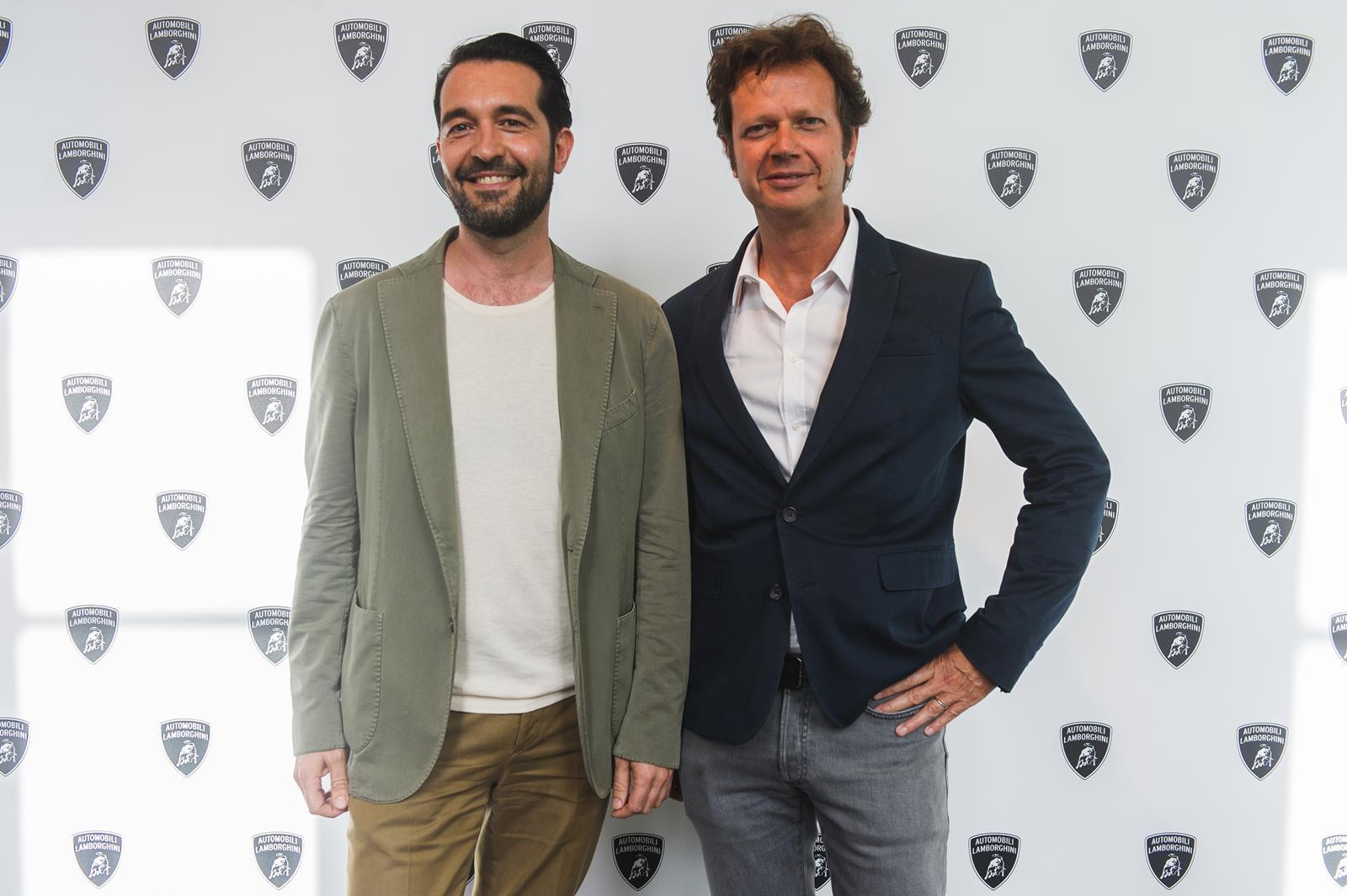 Luca Lucini, Product Manager Collezione Automobili Lamborghini e Mathias Facchini, CEO Swinger International