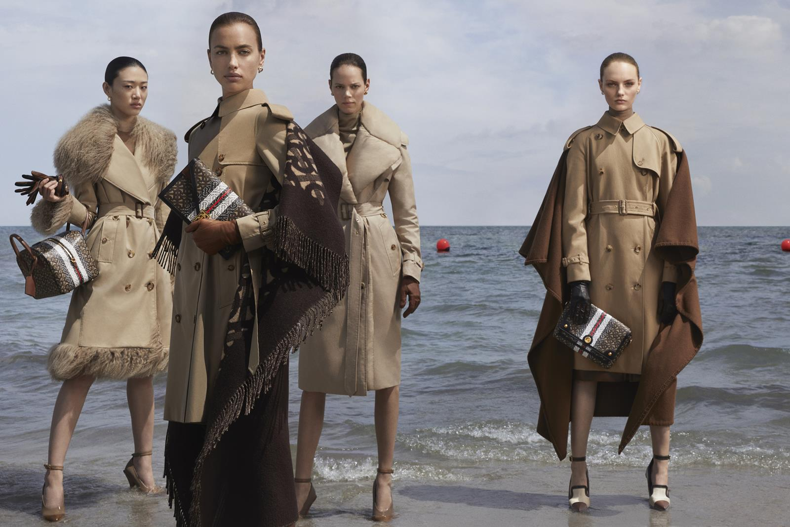 Sora Choi, Irina Shayk, Freja Beha Erichsen and Fran Summers photographed by Danko Steiner for the Burberry Autumn_Winter 2019 campaign c Courtesy of Burberry _ Danko Steiner