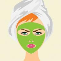 maschera viso al bambu