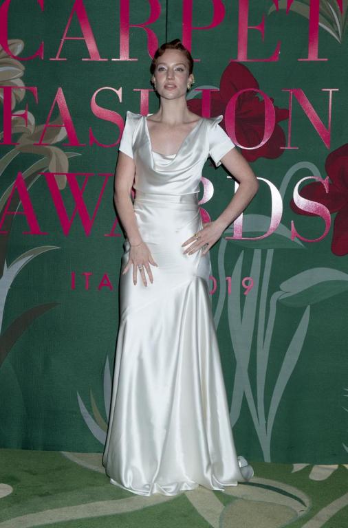 Jess Glynne in Vivienne Westwood Made to Order