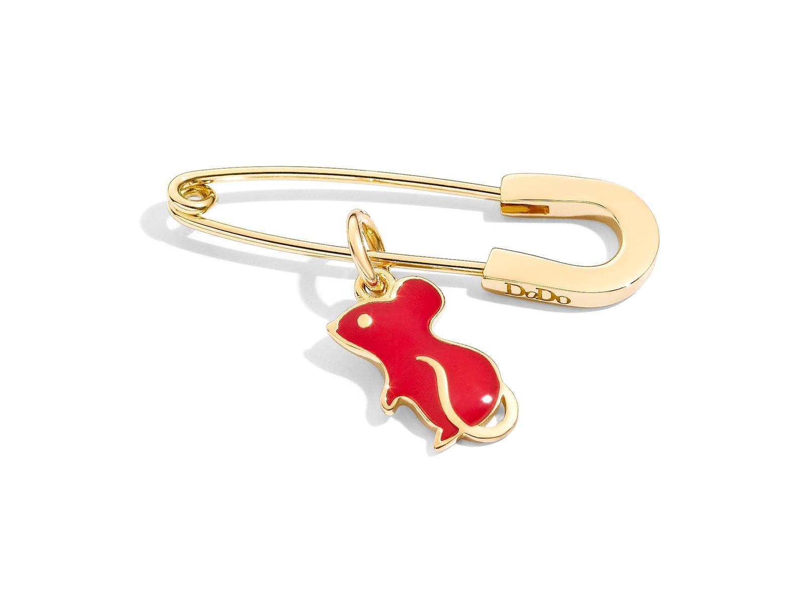 capodanno cinese anno del topo charm dodo oro 18 carati