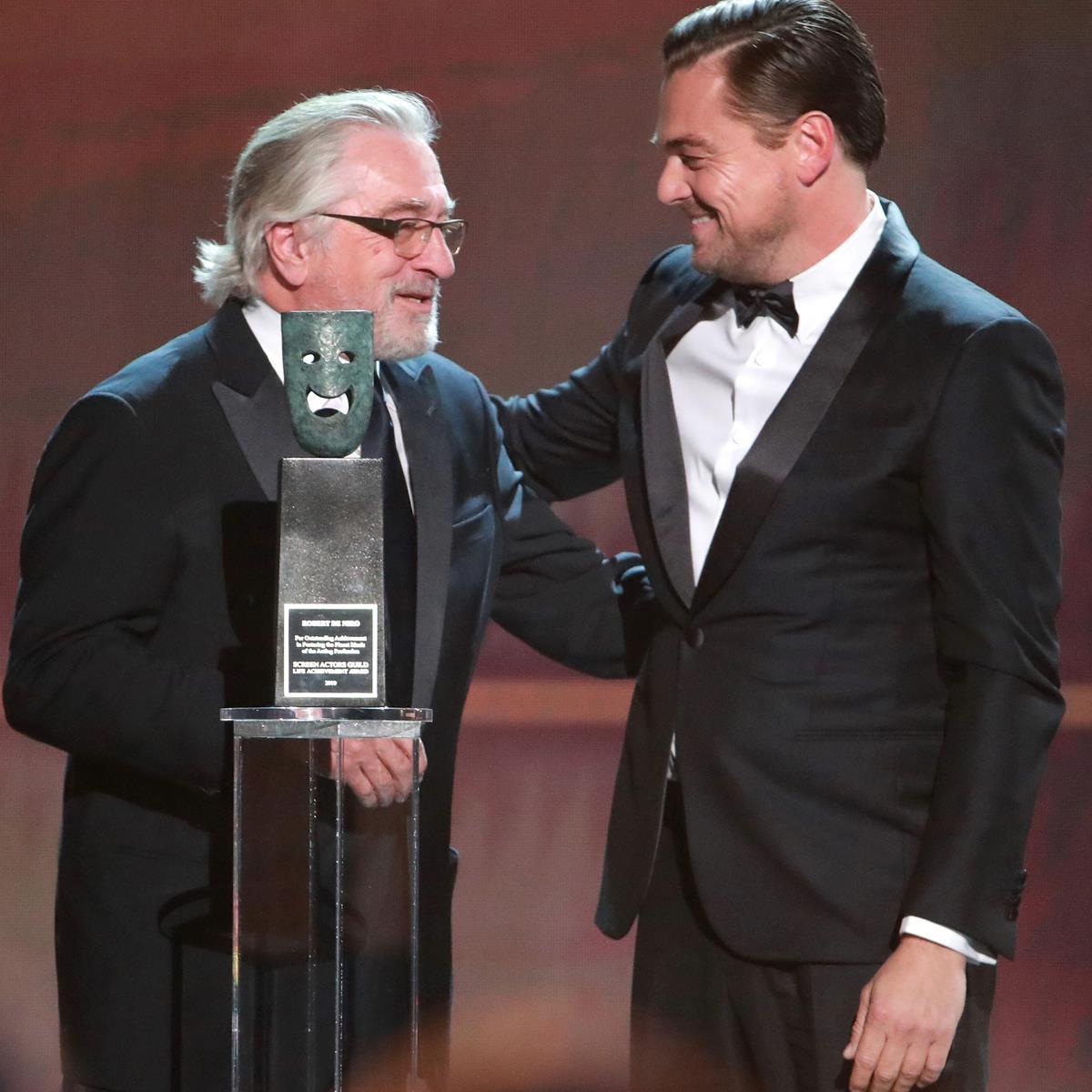 Robert De Niro and Leonardo DiCaprio giorgio armani