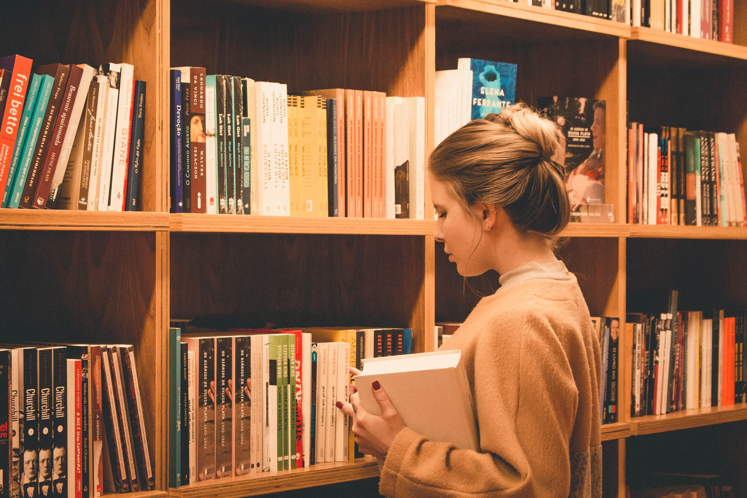 libreria libri come sistemarli