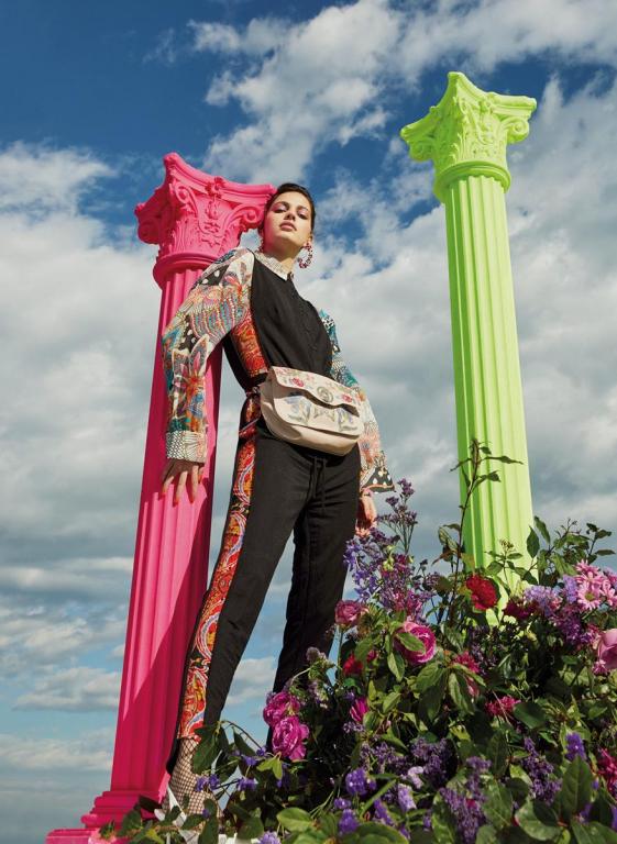 Monsieur Christian Lacroix jumpsuit & bag+Desigual shirt