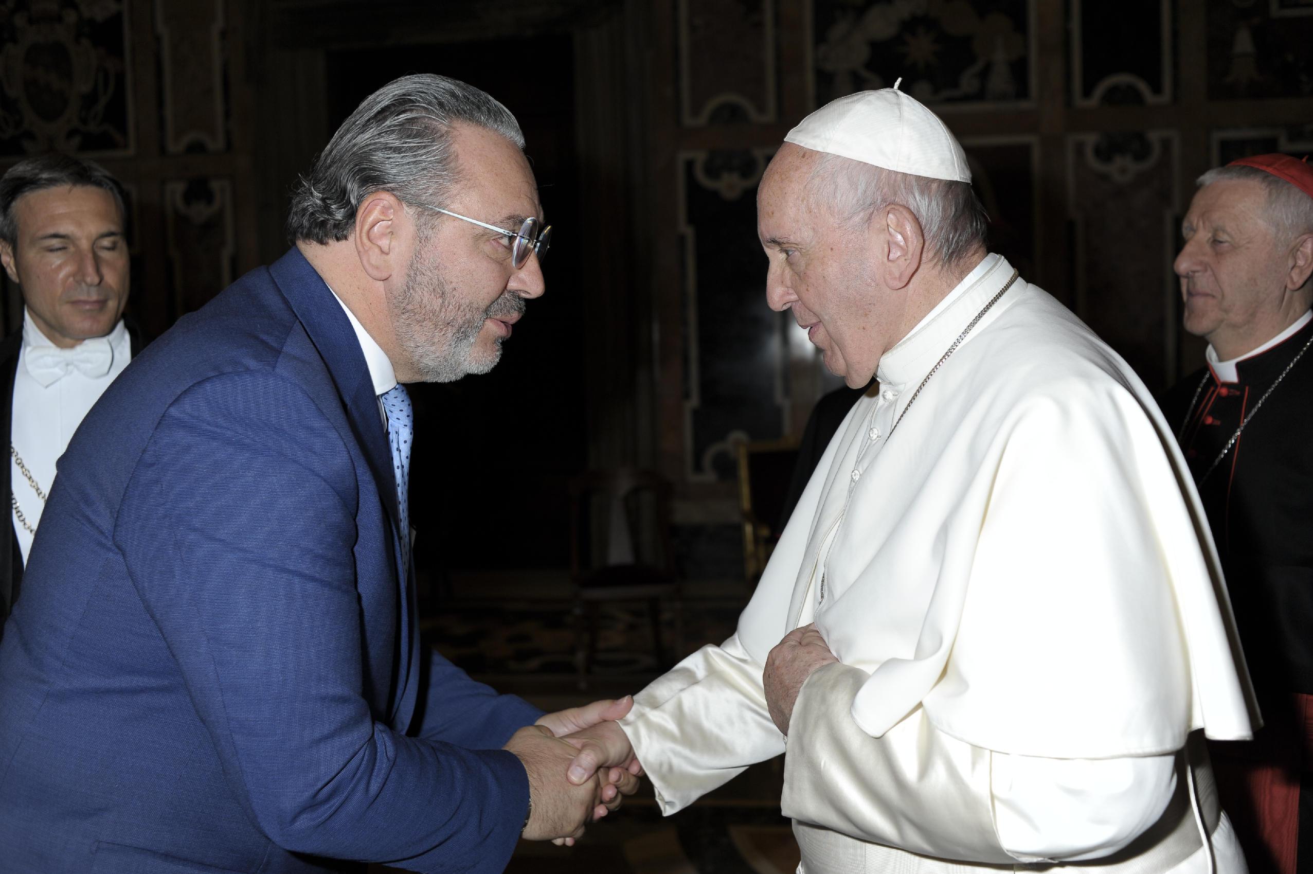 Palmiro Noschese e Papa Francesco