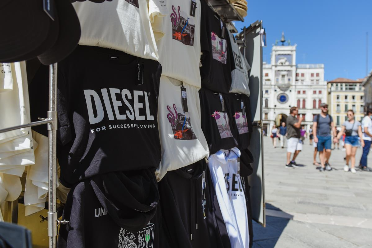 diesel capsule collection piazza san marco venezia festival del cinema