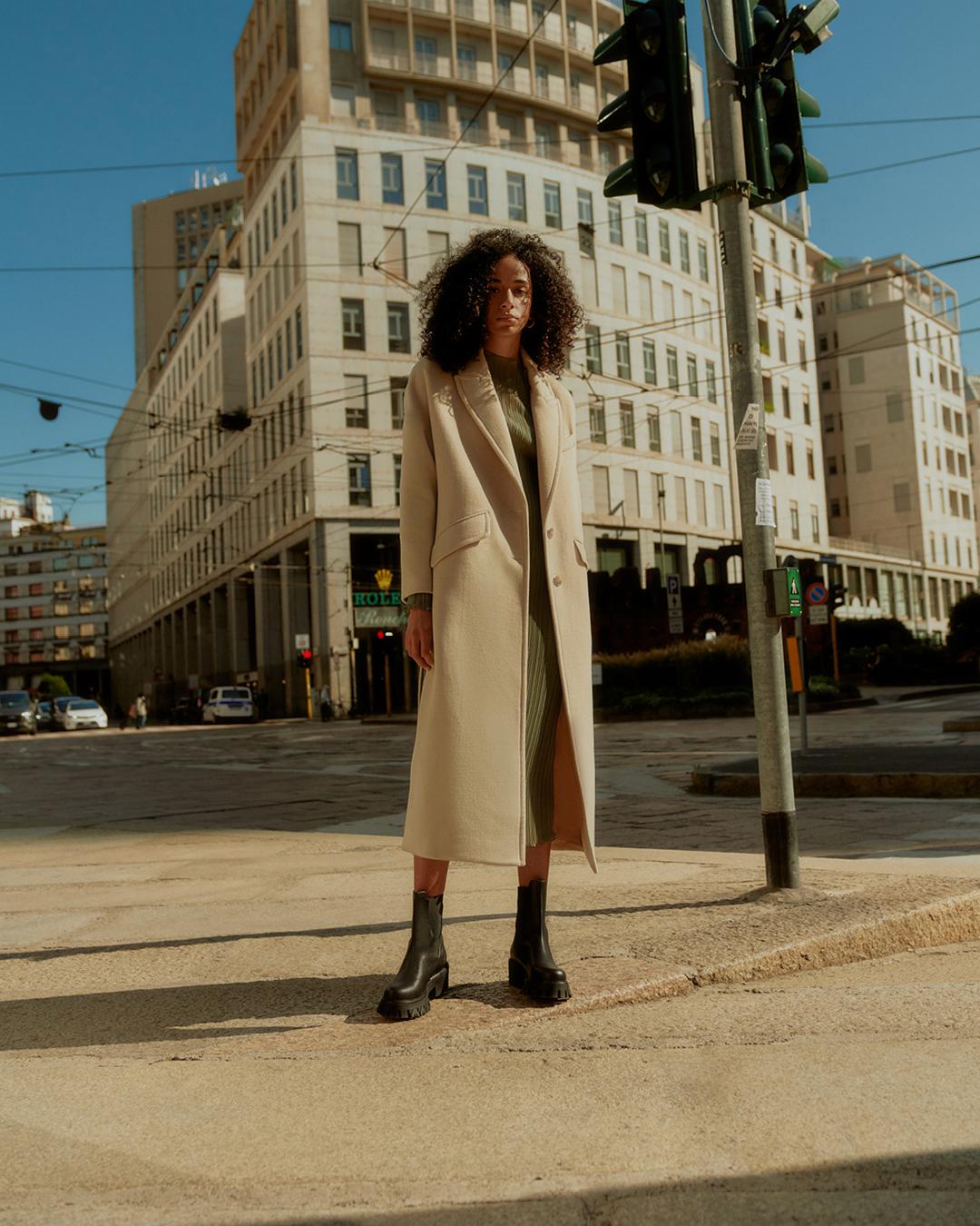 patrizia pepe cappotto stivali donna stile
