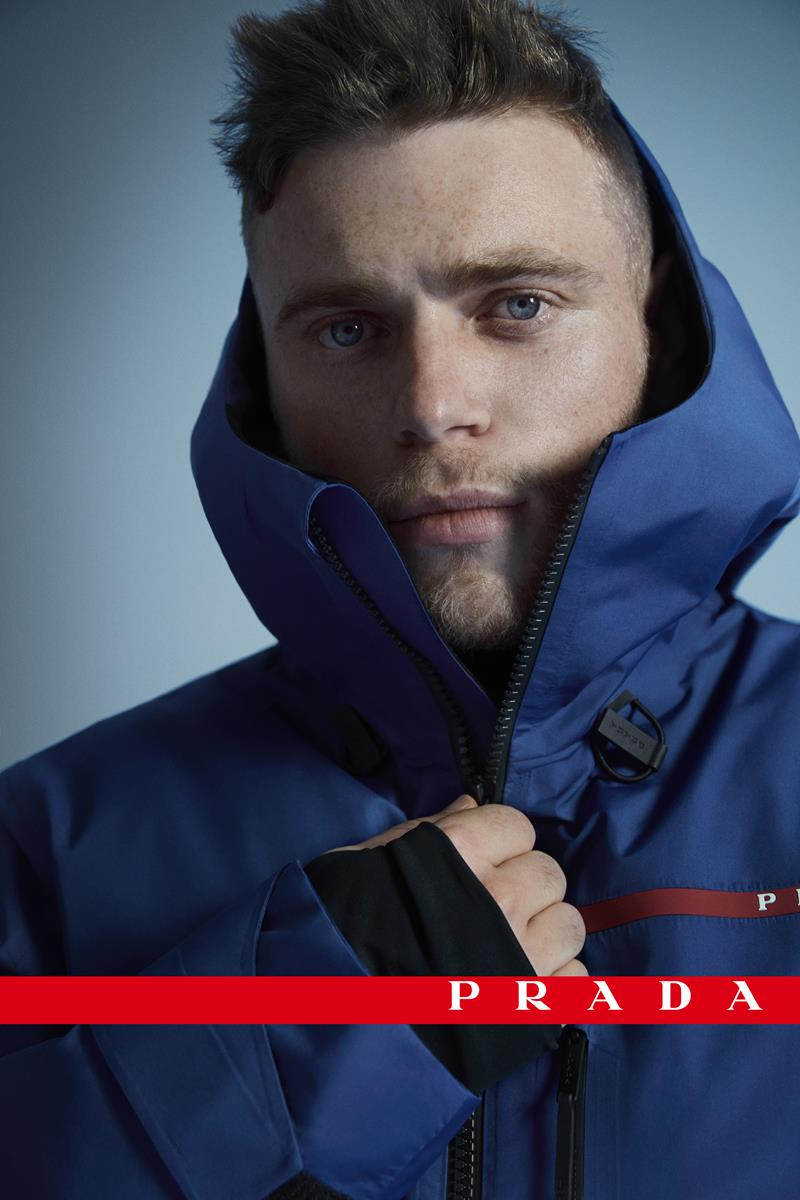 Gus Kenworthy Prada Linea Rossa campagna pubblicitaria sci freestyle