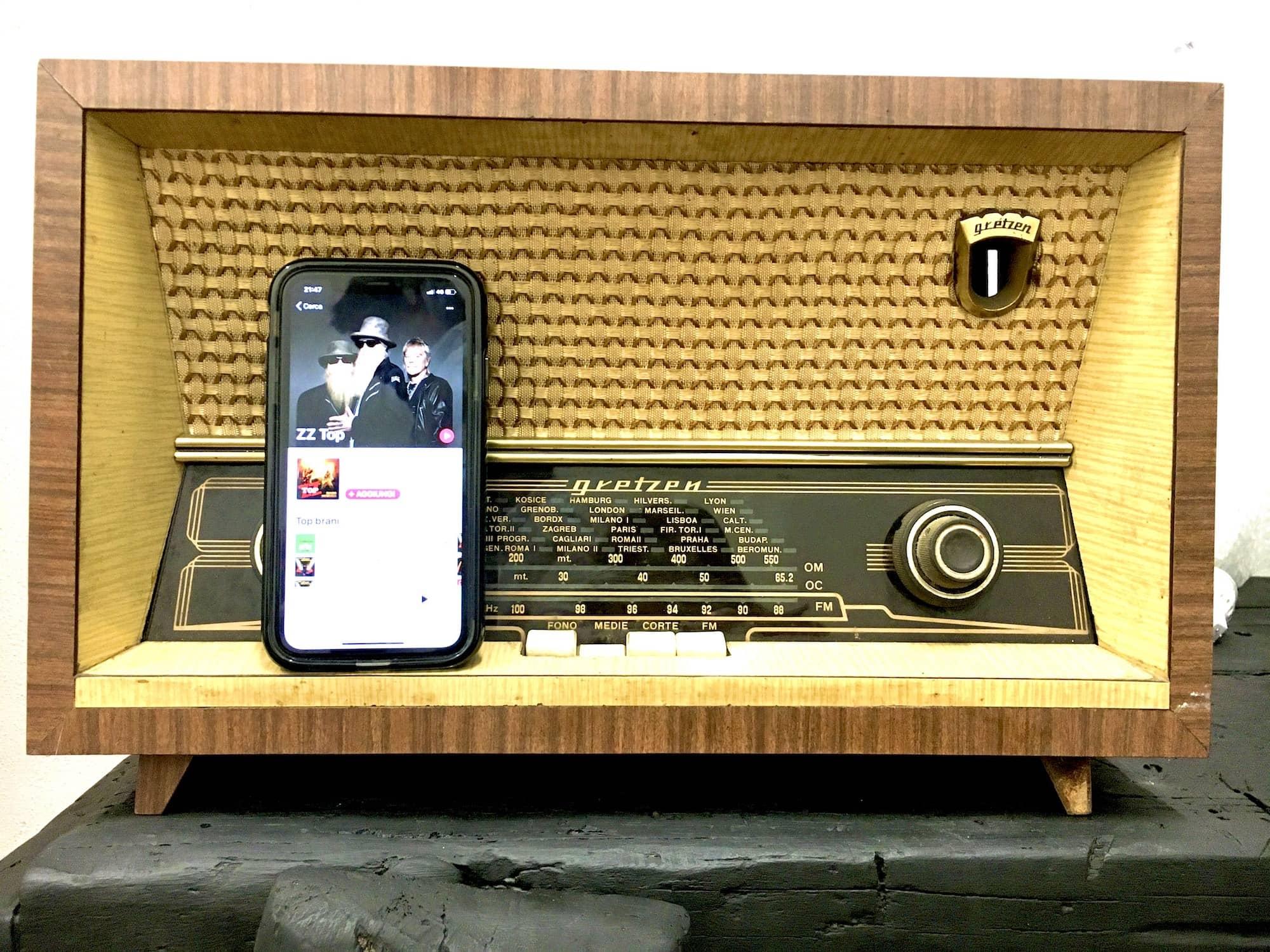 radio bluetooth anni 60 vintage
