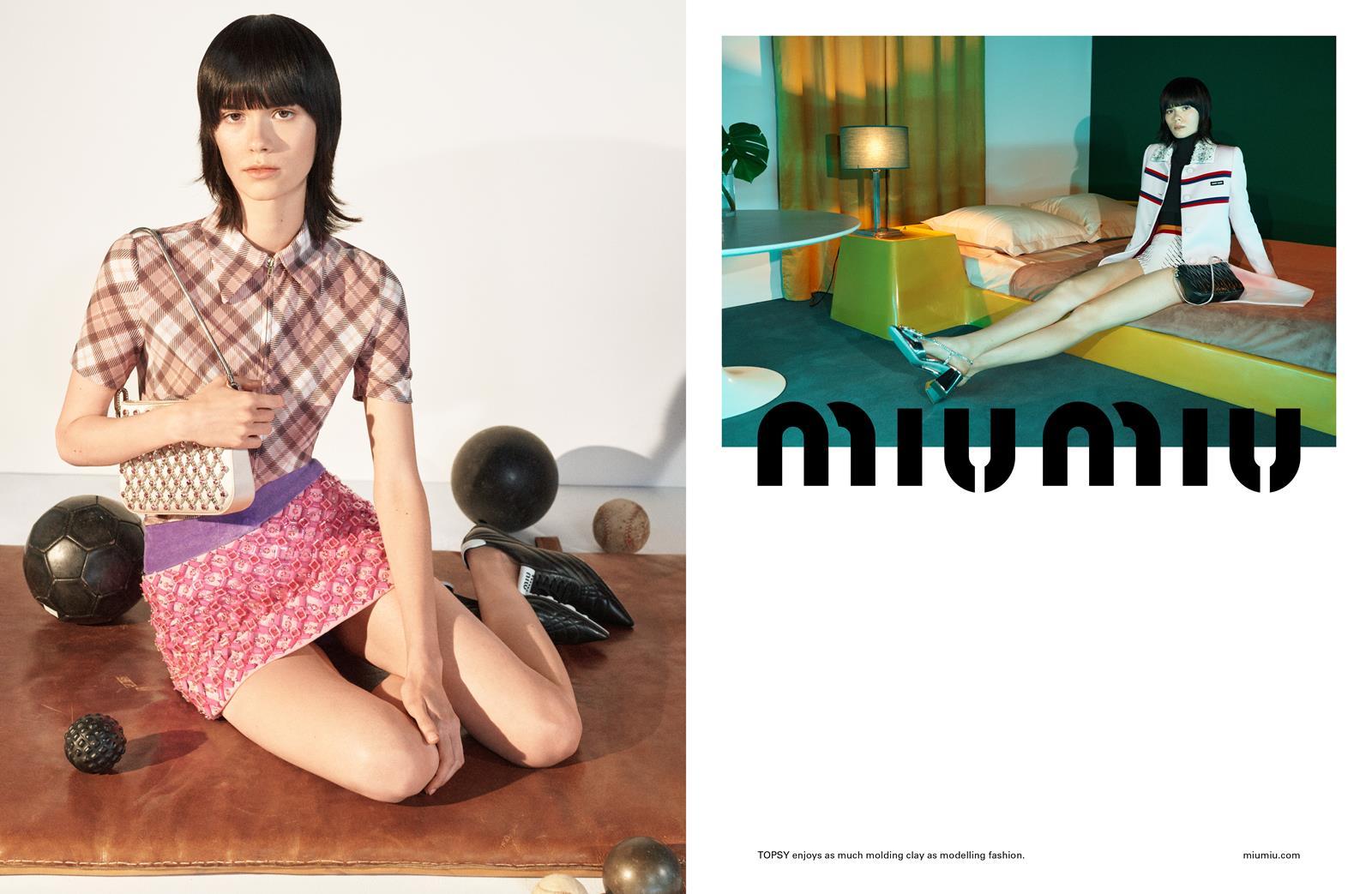 campagna pubblicitaria miu miu realizzata da fotografo di moda steven meisel primavera estate