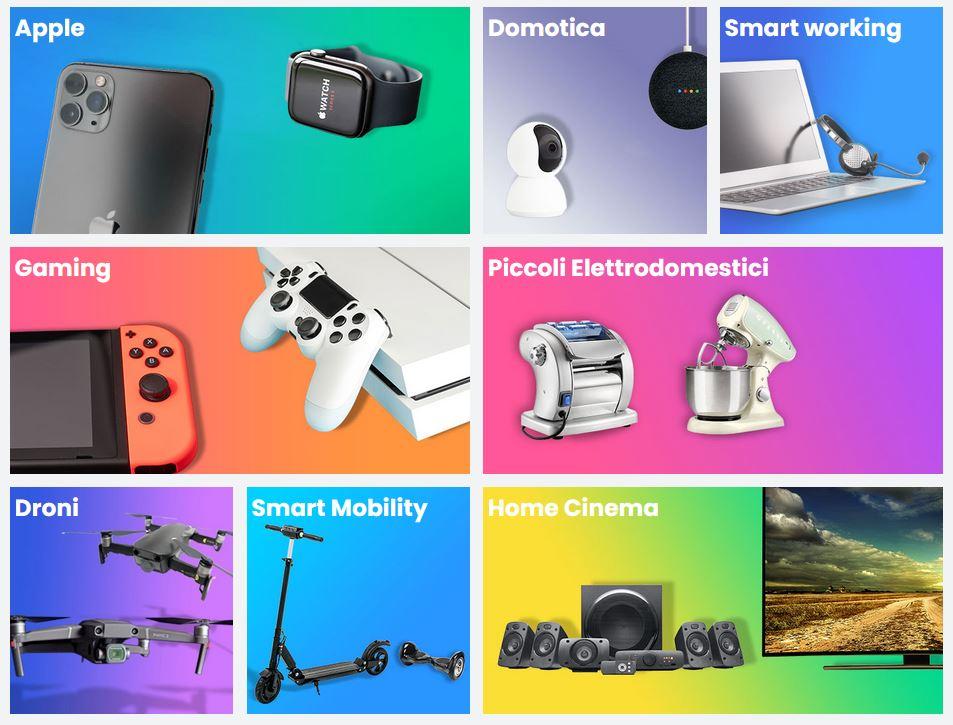 e-commerce elettronica negozio tecnologia online