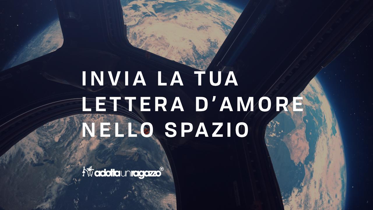 idea romantica lettera d'amore nello spazio