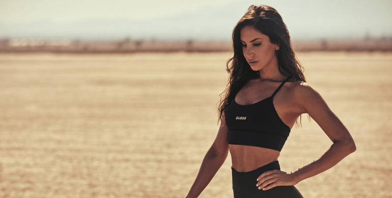 jen selter sexy sport icon guess activewear